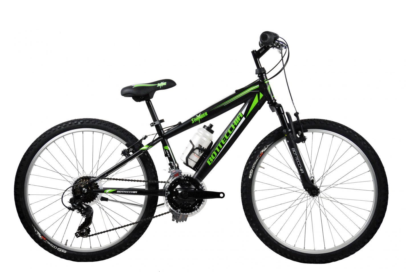 88724c4539b Bottecchia 24 MTB sort / grøn 18 Gear - Børn- og juniorcykler ...