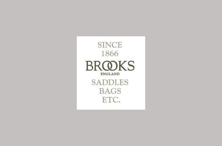 Stænkskærm Brooks sort læder