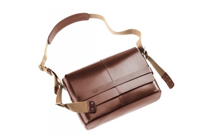 Taske Brooks Barbican medium brun læder