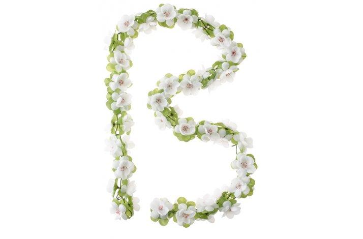 Blomsterranke BASIL 170cm hvid