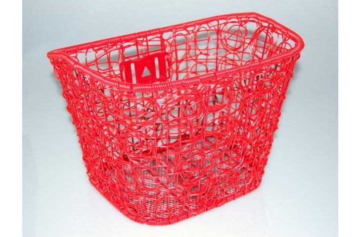 Kurv For fastmotering Mix Rød Plast Rattan Flet