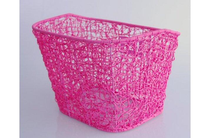 Kurv For fastmotering Pink Plast Rattan Flet