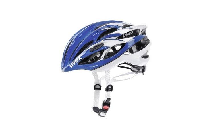 Uvex fp 1 - hvid-blå cykelhjelm