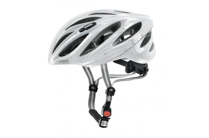 Uvex boss race - carbon hvid cykelhjelm