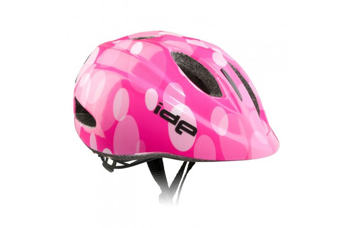 rh+ IDE børnecykelhjelm pink m/ringe