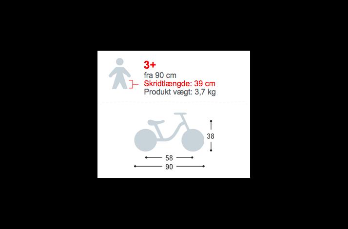 Puky LR Ride fra 90 Cm 3,7 KG Hvid/Pink Løbecykel 2017