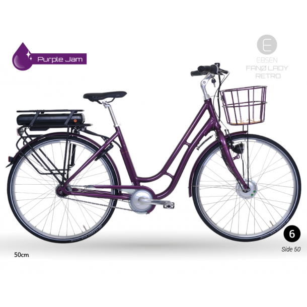 Ebsen Fanø Lady Retro Purple Jam El cykel 2018