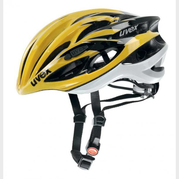 Uvex Race 1 Gul - Sort cykelhjelm vægt 205 Gram