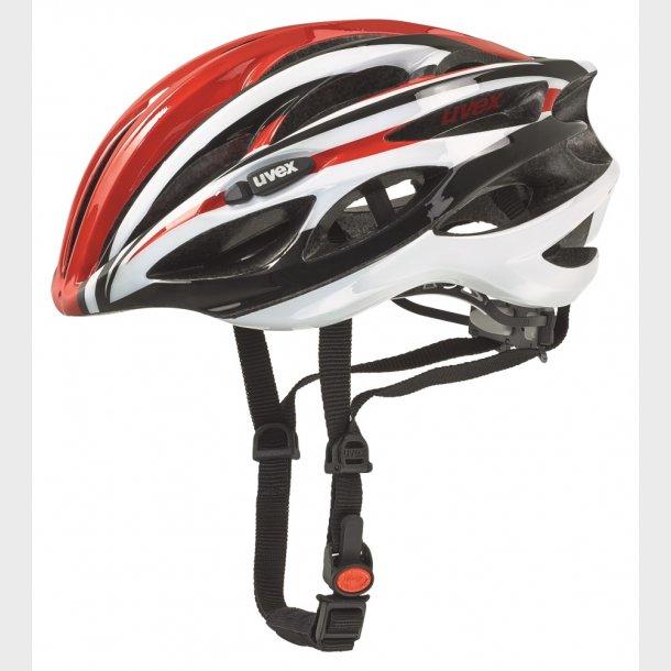 Uvex cykelhjelm Race 1 rød-sort-hvid